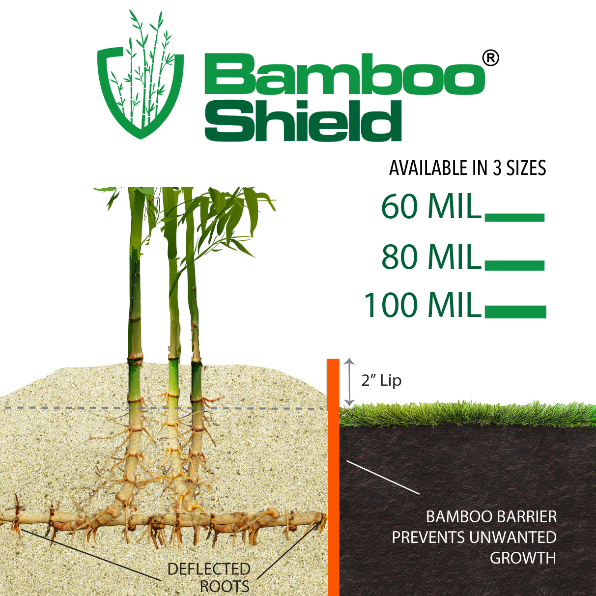 Bamboo Shield for Warmer Climates - 80 mil thick x 30